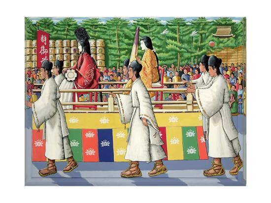 Lady Shizuka, Festival of the Ages, 2005-P.J. Crook-Giclee Print