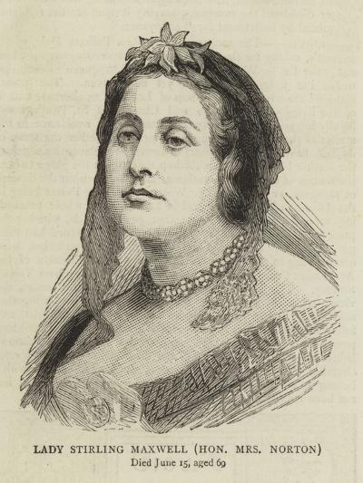 Lady Stirling Maxwell, Honourable Mrs Norton--Giclee Print