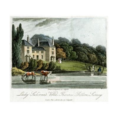 Lady Sulivan's Villa, Thames Ditton, Surrey, England, 1817-I Hassell-Giclee Print
