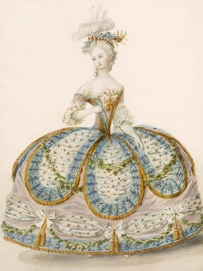 Lady Wearing Dress for a Royal Occasion, Design Attr. to Anvorious, Pub. April 1796-French-Giclee Print