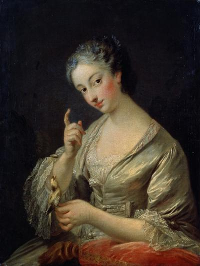 Lady with a Bird, 18th Century-Louis Michel Van Loo-Giclee Print