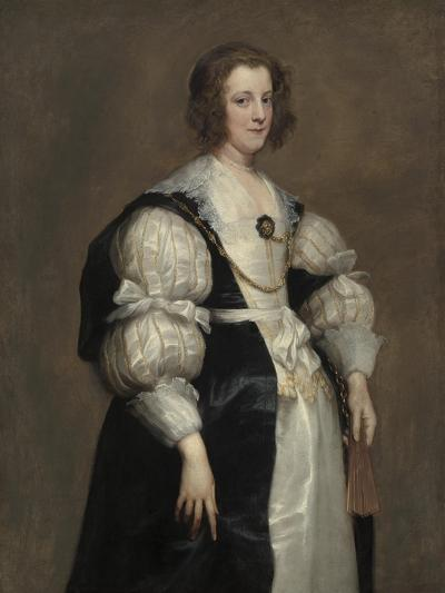 Lady with a Fan, c.1628-Anthony van Dyck-Giclee Print