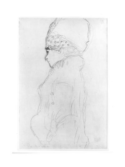 Lady with a Tall Hat, c.1917-Gustav Klimt-Giclee Print