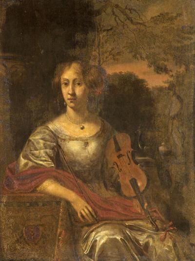Lady with a Violin, C.1675--Giclee Print