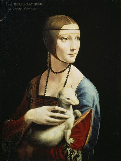 Lady with an Ermine (Portrait of Celilia Gallerani), C. 1490-Leonardo da Vinci-Giclee Print