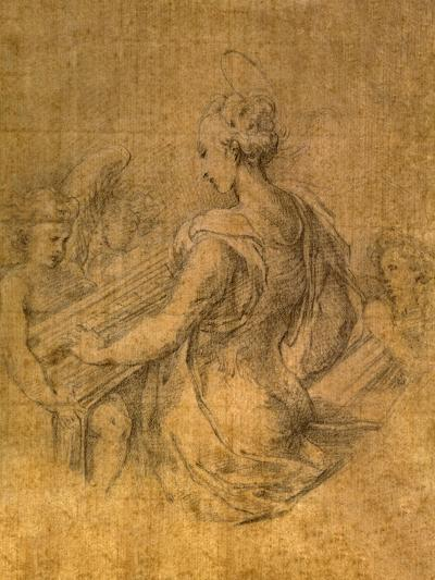 Lady with Angels-Parmigianino-Premium Giclee Print
