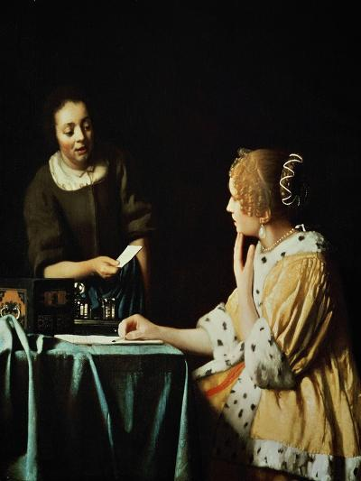 Lady With Her Maidservant Holding a Letter, 1666-Johannes Vermeer-Giclee Print