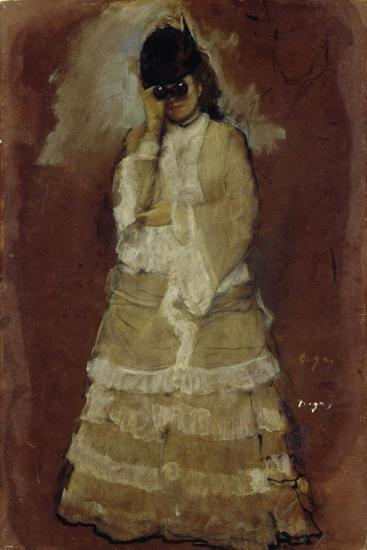 Lady with Opera Glasses, 1879-80-Edgar Degas-Giclee Print