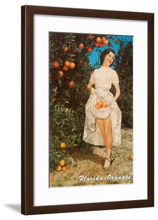 Lady with Oranges, Florida--Framed Art Print