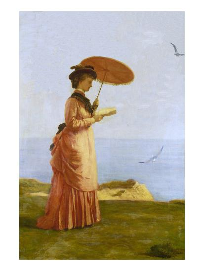 Lady with Parasol Reading, Isle of Wight (Emily Prinsep)-Valentine Cameron Prinsep-Giclee Print
