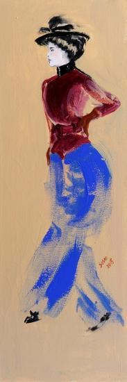 Lady with Red Jacket, 2015-Susan Adams-Giclee Print