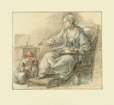 Lady Writing-Francois Gu?rin-Collectable Print