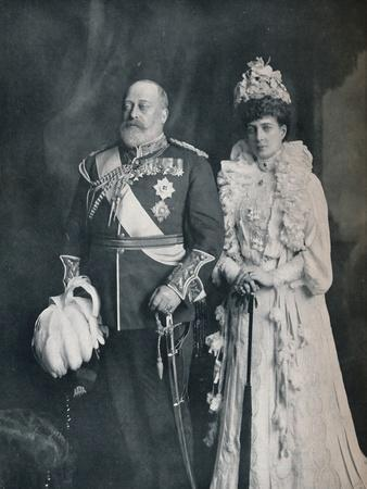 King Edward VII with Queen Alexandra, c1908 (1911)