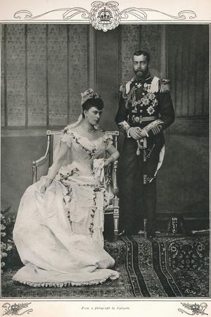 King George V and Queen Mary on their wedding day, 1893 (1911)