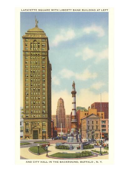 Lafayette Square, City Hall, Buffalo, New York--Art Print