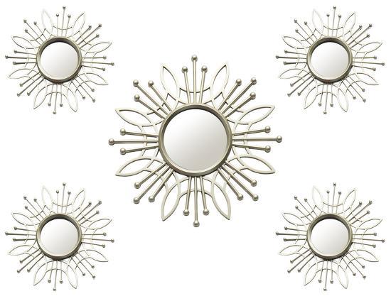 Lafayette Sunburst Mirrors - Set Of 5 Wall Mirror By