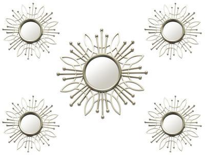Lafayette Sunburst Mirrors - Set of 5