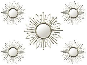 Lafayette Sunburst Mirrors - Set of 5