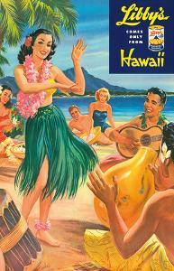 Libby's Hula Girl c.1957 by Lafferty