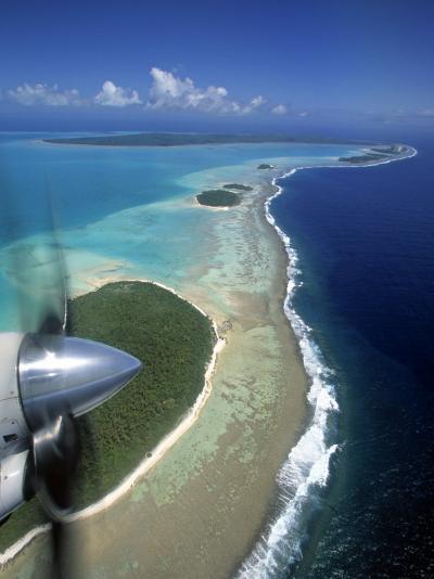 Lagoon and Beach, Aitutaki, Cook Islands-Walter Bibikow-Photographic Print