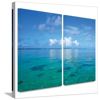 Lagoon and Reef 2 piece gallery-wrapped canvas-George Zucconi-Gallery Wrapped Canvas Set