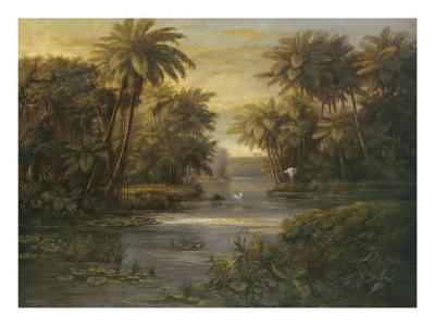 Lagoon at Daybreak-Montoya-Art Print