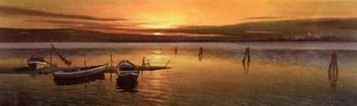 Lagoon at Sunset II-W^ Galland-Art Print