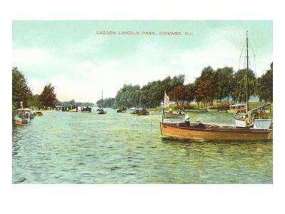Lagoon. Lincoln Park, Chicago, Illinois--Art Print