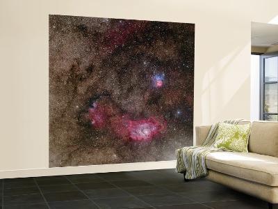 Lagoon Nebula and Trifid Nebula in Sagittarius--Wall Mural – Large