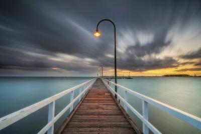 Lagoon Pier 2-Lincoln Harrison-Photographic Print