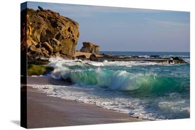 Laguna Beach Shore Break and Waves-Ben Horton-Stretched Canvas Print