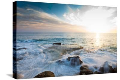Laguna Beach Shore Break and Waves-Ben Horton-Stretched Canvas Print
