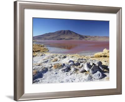 Laguna Colorada on the Altiplano, Potosi Department, Bolivia-Ian Trower-Framed Photographic Print