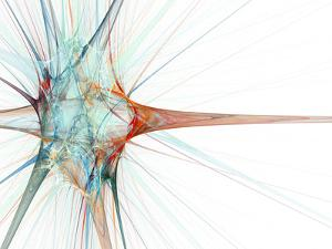 Nerve Cell, Abstract Artwork by Laguna Design