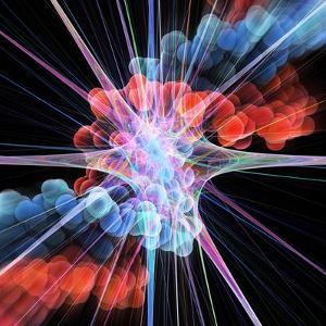 Nerve Cell And DNA, Artwork by Laguna Design