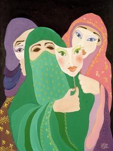 Masks, 1989 by Laila Shawa