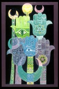 Standards (Alams in Arabic) 1992 by Laila Shawa