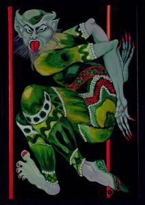The Devil, after Bakst (Part I), 1992 by Laila Shawa
