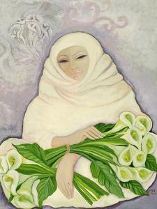 The Lily Seller, 1989 by Laila Shawa