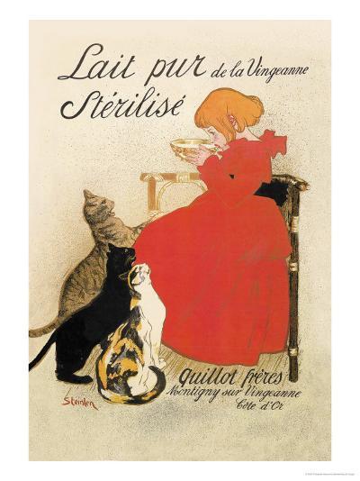 Lait Pur de la Vingeanne Sterilise-Th?ophile Alexandre Steinlen-Art Print