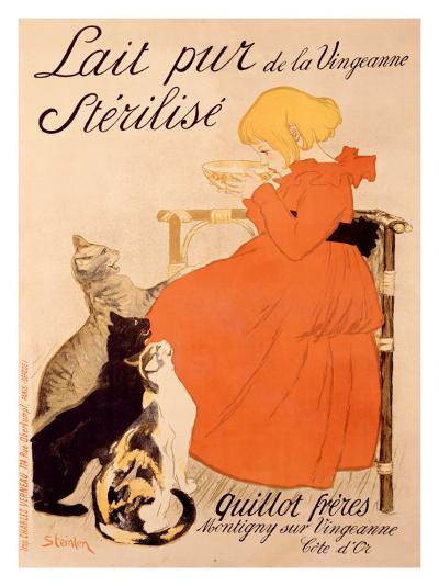 Lait Pur Sterilise Cats-Th?ophile Alexandre Steinlen-Giclee Print