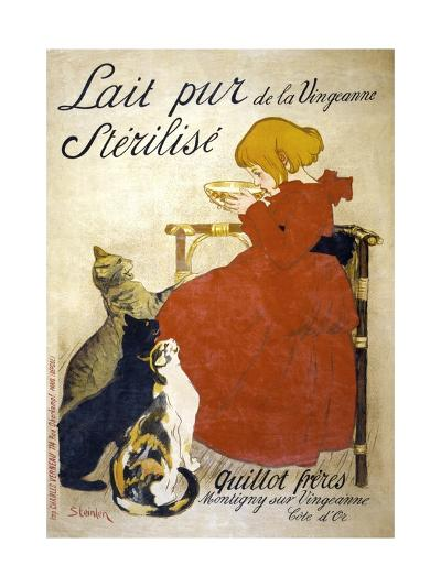 Lait Pur Sterilise Poster-Th?ophile Alexandre Steinlen-Giclee Print