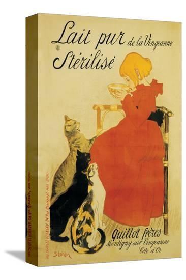 Lait Pur-Th?ophile Alexandre Steinlen-Stretched Canvas Print