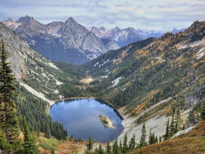 Lake Ann from Maple Pass Loop Trail, Wenatchee National Forest, Washington, Usa-Jamie & Judy Wild-Photographic Print