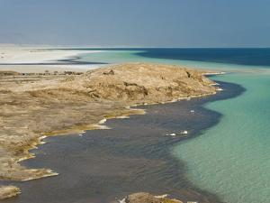 Lake Assal Crater Lake in the Central Djibouti With Its Salt Pans, Afar Depression, Djibouti