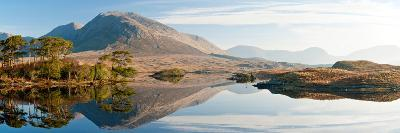 Lake at Dawn, Derryclare Lake, Connemara, County Galway, Ireland--Photographic Print