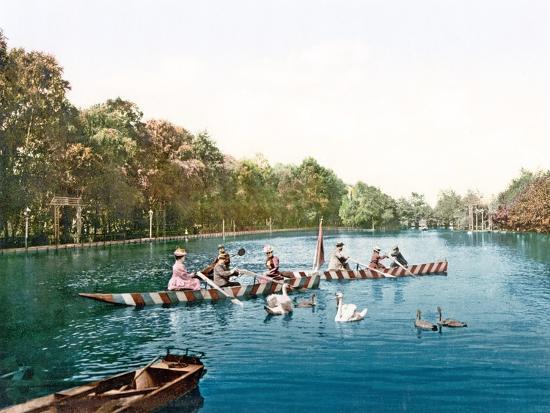 Lake at Franzenbad, Bohemia, Pub. C.1900--Giclee Print