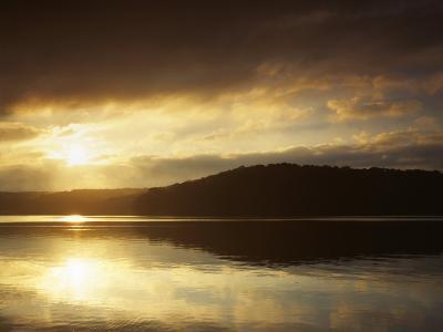 Lake at Sunrise, Lake of the Ozarks, Missouri, USA-Charles Gurche-Photographic Print
