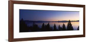 Lake at Sunset, Lake Tahoe, California, USA