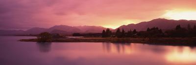 Lake at Sunset, Lake Tekapo, South Island, Canterbury, New Zealand--Photographic Print